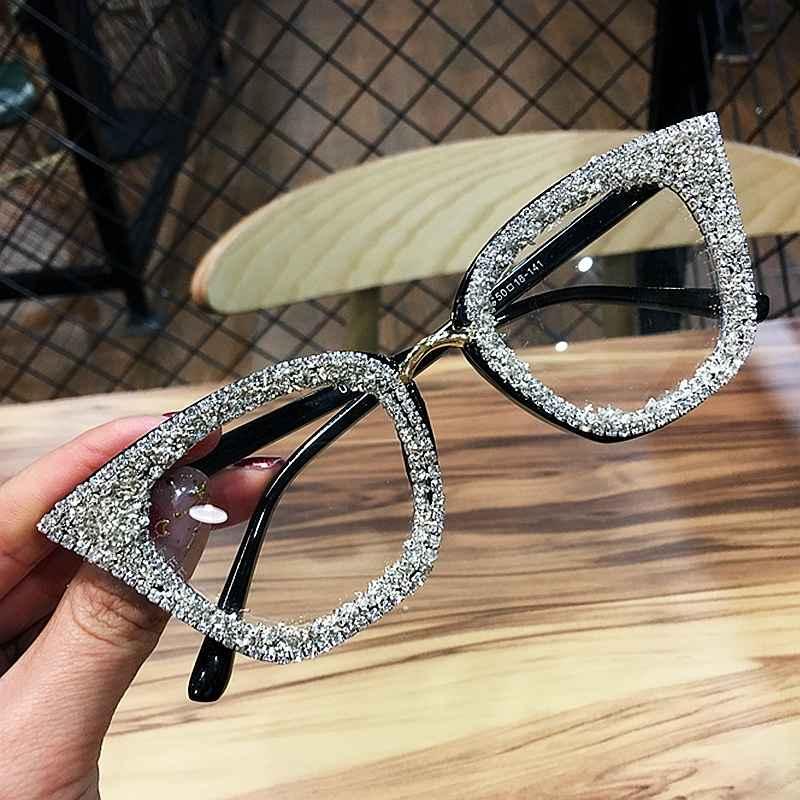 2019 Vintage Cat Eye Glasses Frame Retro Female Brand Designer