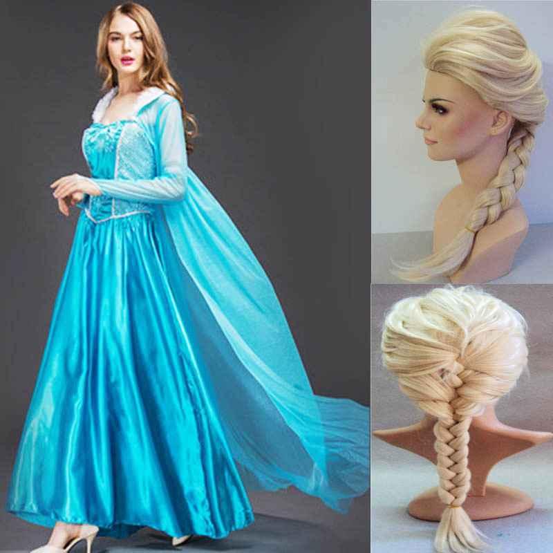 2019 New Adult Elsa Princess Dress Queen Anna Costume Grow