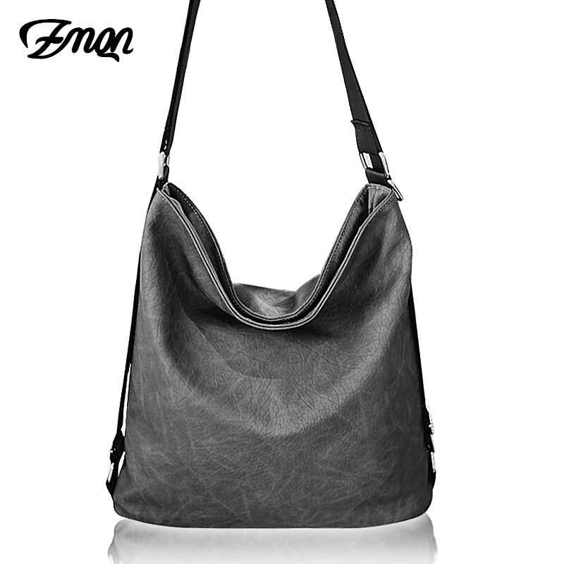 Casual Shoulder Crossbody Bags For Women 2019 Black Soft Pu