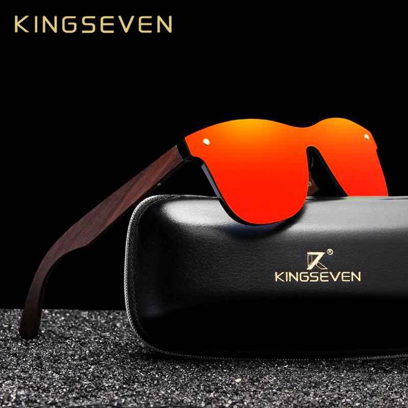 2019 Handmade Walnut Wooden Eyewear Polarized Mirror Sunglasses Men Women