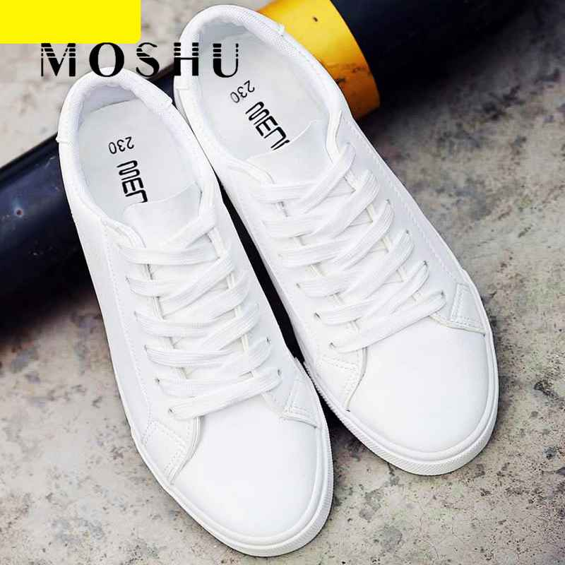 Women White Sneakers Tenis Feminino Pu Leather Vulcanized Shoes Ladies