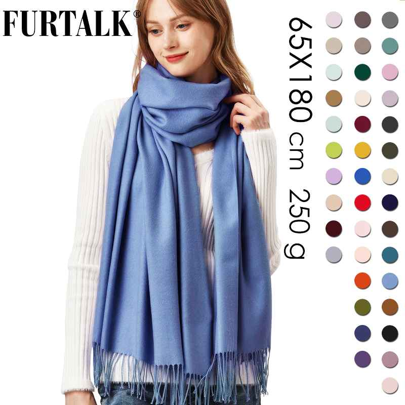 Furtalk Cashmere Scarf Women Winter Shawl Pashmina Shawl Wraps Soft