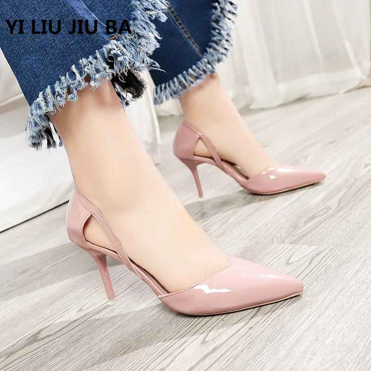 2019 Hot Sale Fashion Women Shoes Pointed Toe Pumps Pu