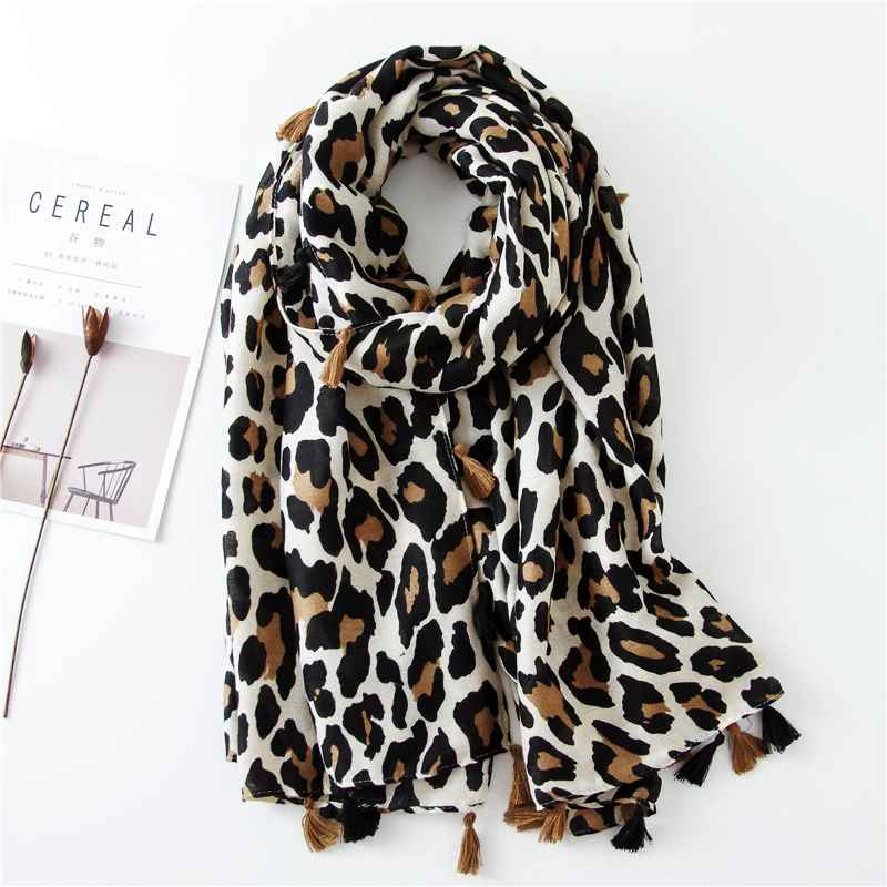 2019 Fashion Women Leopard Print Scarf 180*90cm Leopard Stole Thin