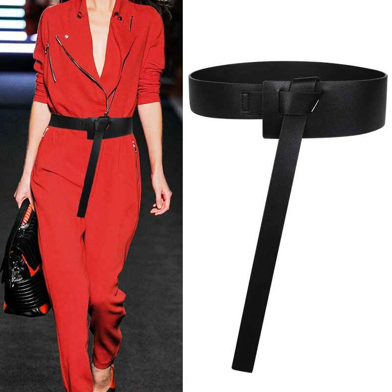 Female Decoration Accessaries Waistbands Hot Black Knotted Belt Simple Waistband
