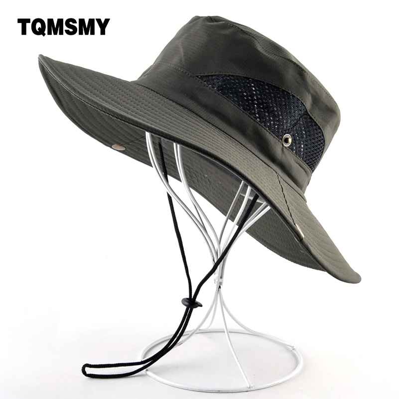 Solid Color Sun Hats For Men Outdoor Fishing Cap Wide