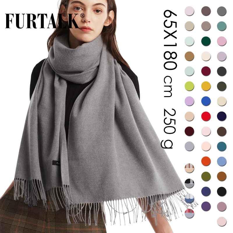 Furtalk Cashmere Women Winter Scarf Shawl Pashmina Shawl Wraps Soft