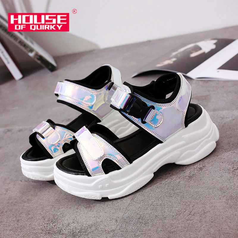 Sexy Open-Toed Women Sport Sandals Wedge Hollow Out Women Sandals