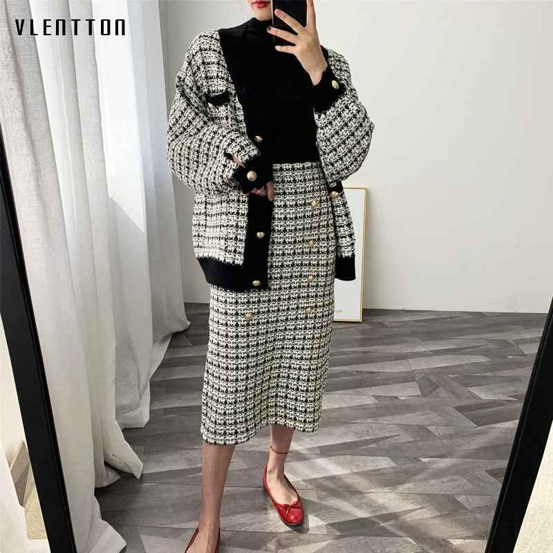 Skirts 2019 spring autumn new tweed womens skirt elegant office