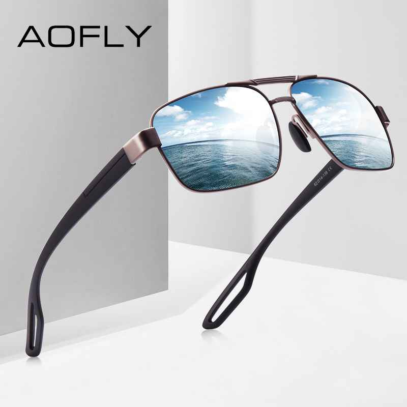 Design Men Polarized Sunglasses Metal Men's Sun Glasses Driving Square