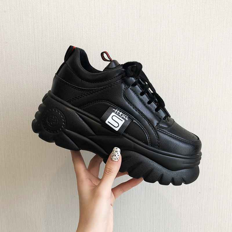 Hight Increase Ulzzang Women Casual Shoes Woman Sneakers Platform Wedges