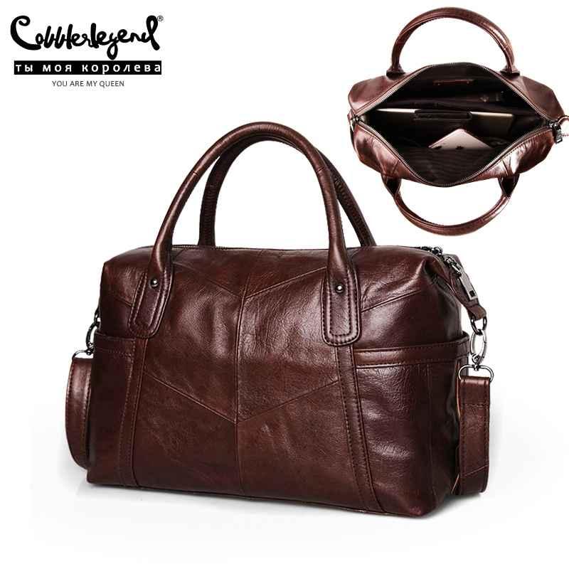 Big Bags For Women 2019 Genuine Leather Shoulder Bag Vintage