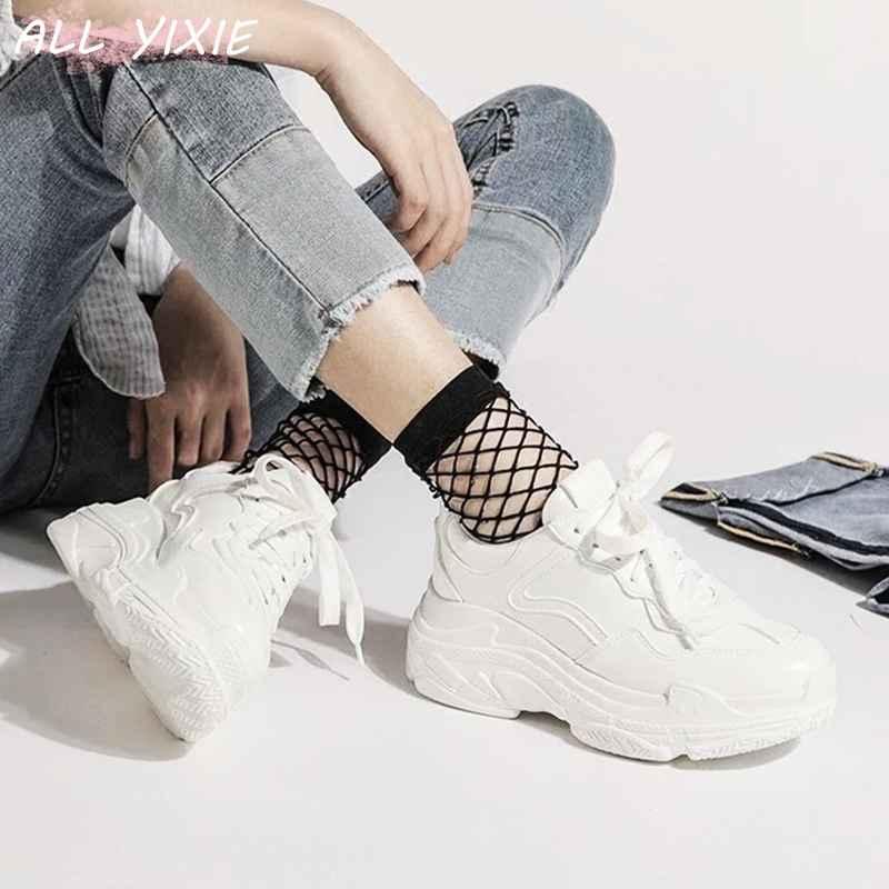 All Yixie 2019 New Summer White Mesh Women Sneakers Fashion