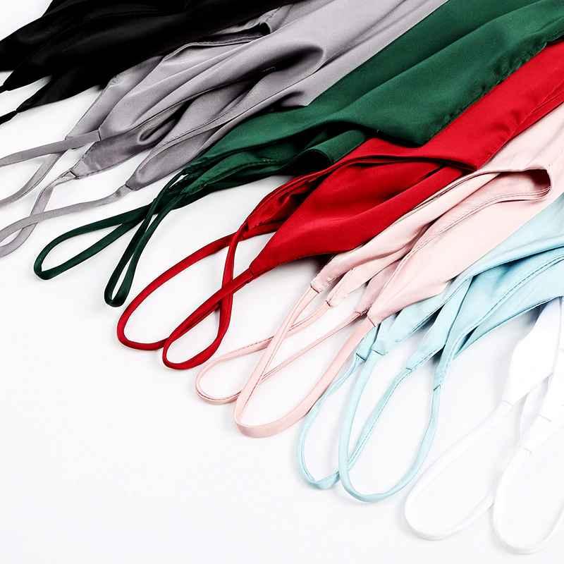 Spaghetti Strap Top Women Halter V Neck Basic White Cami