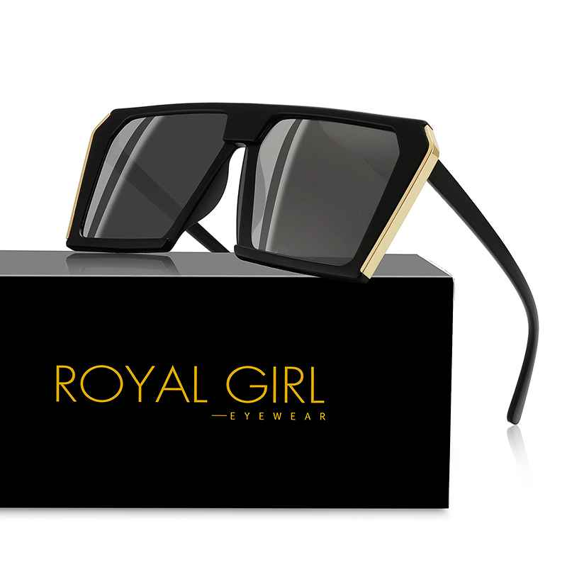 Royal Girl Oversized Sunglasses Women Men Square Sunglass Lady Retro