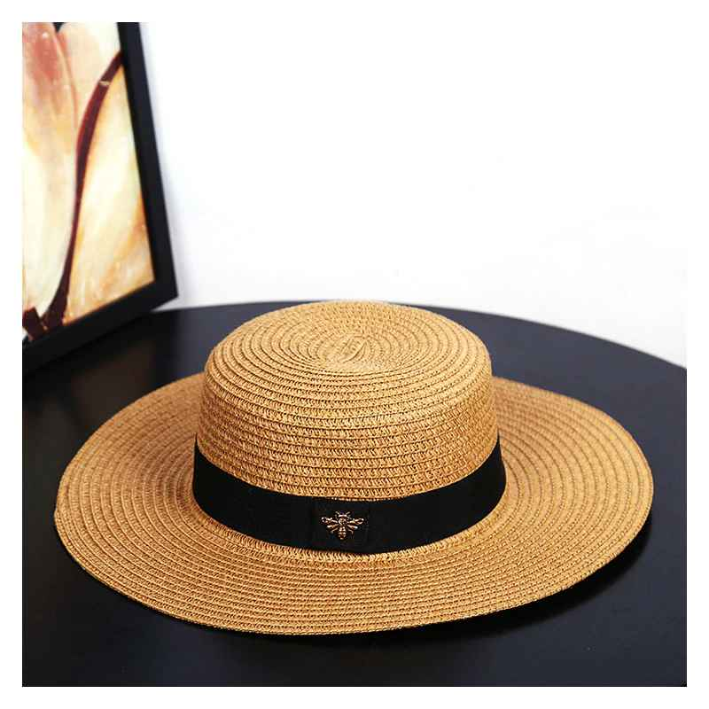Sun Hats Small Bee Straw Hat European And American Retro