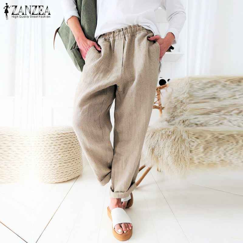 Pants s 5xl zanzea summer long harem pants 2019 women