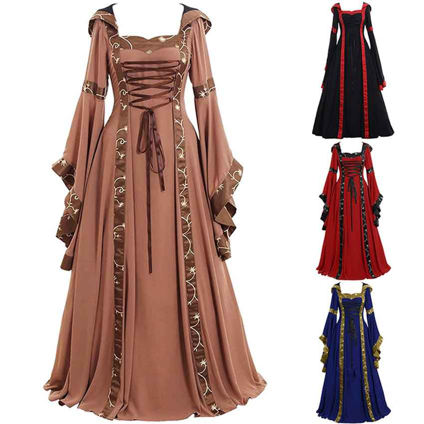 Medieval Cosplay Costumes For Women Halloween Carnival Middle Ages Stage