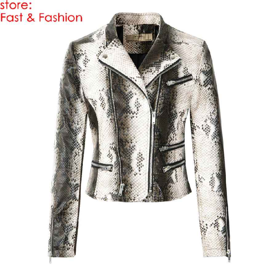 2019 New Fashion Women Motorcycle Faux Leather Jackets And Coats