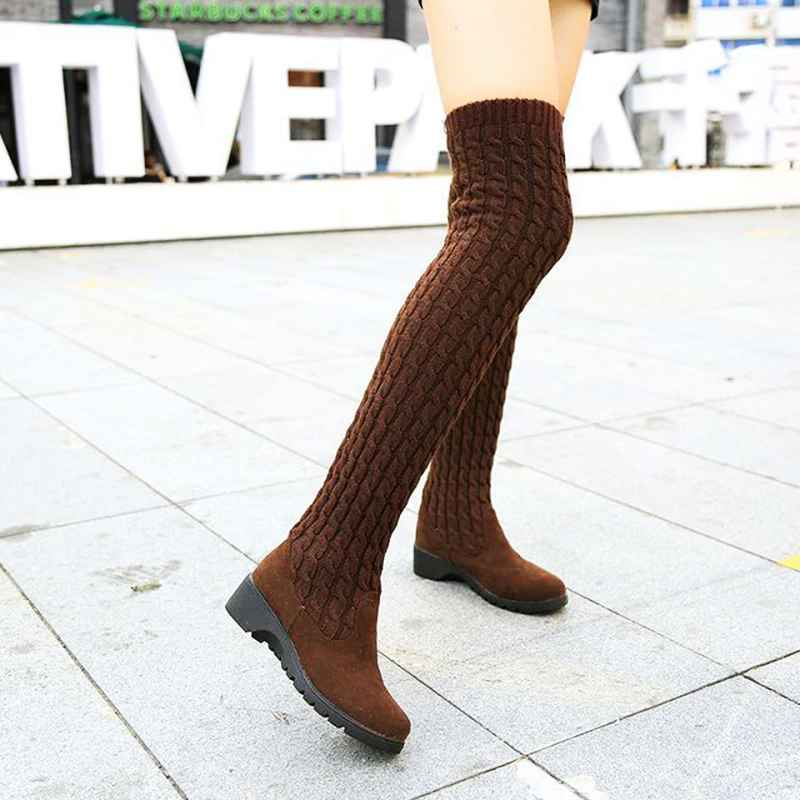 Womens Boots 2019 Autumn Winter Thigh High Boots For Woman