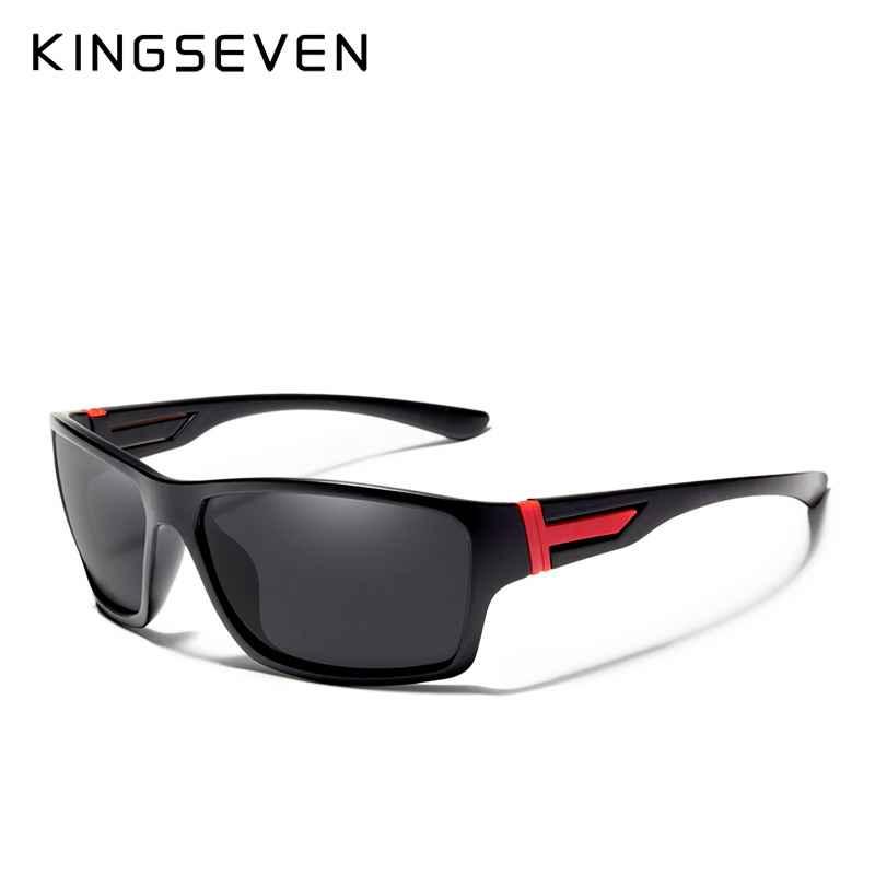 Kingsevensummer Polarized Sunglasses Men Luxury Brand Designer Coating Mirror Lens