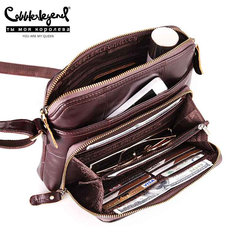 Women Solid Multi Pockets & Card Holder Casual Genuine Leather