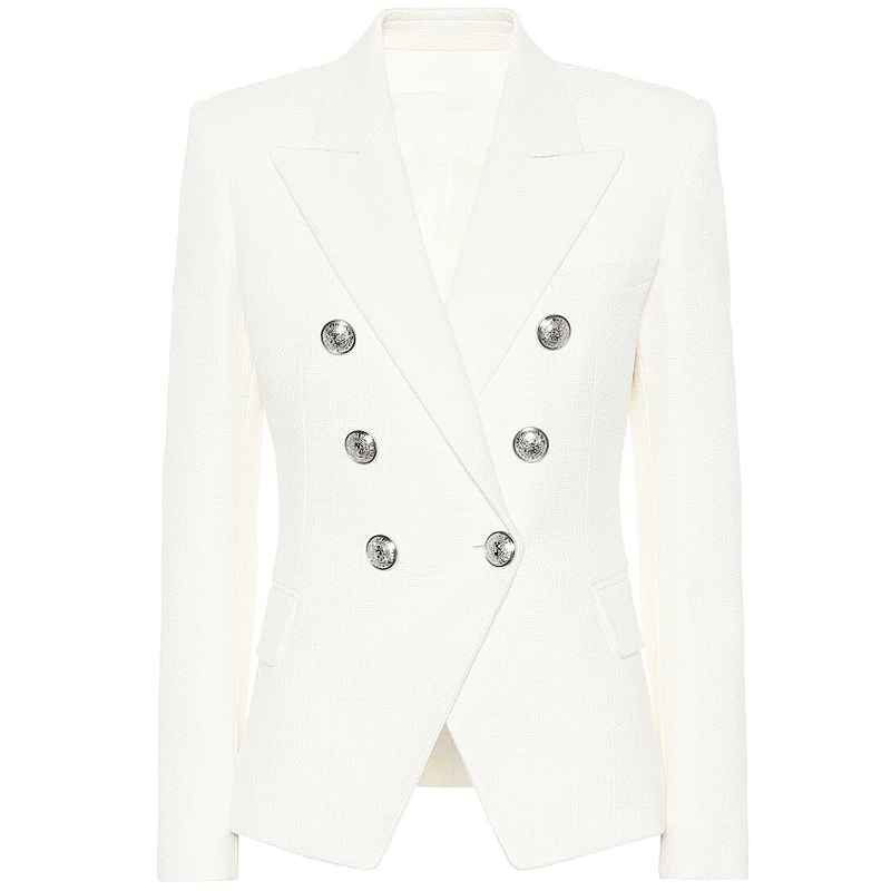 Blazers high street 2019 classic designer blazer womens double breasted