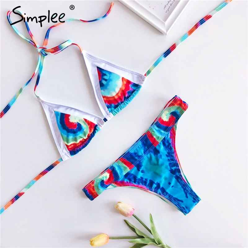 Swimwear Simplee String Bikinis 2019 Mujer Push Up Swimwear Women