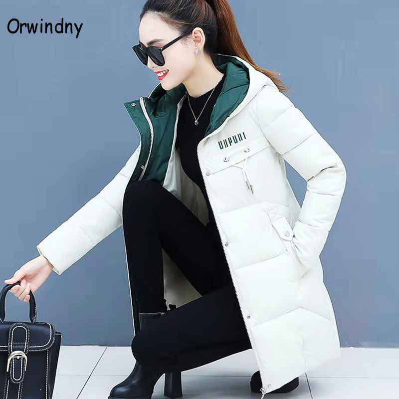 Coats orwindny women thicken parkas hooded 2019 new winter coat