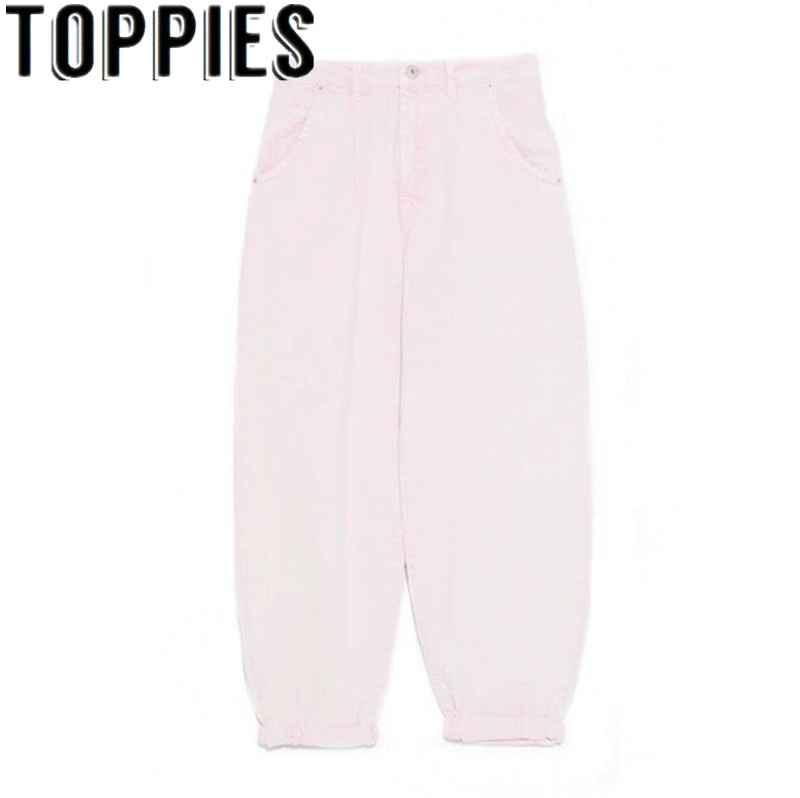 Jeans 2019 pink jeans high waist denim harem pants boyfriend