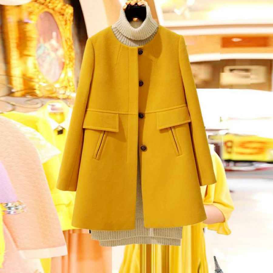 New 2019 Spring Autumn Plus Size Wool Coat Women Loose