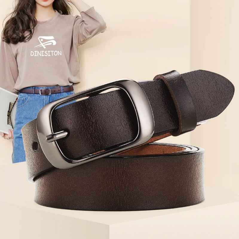 Dinisiton New Women Genuine Leather Belt For Female Strap Casual