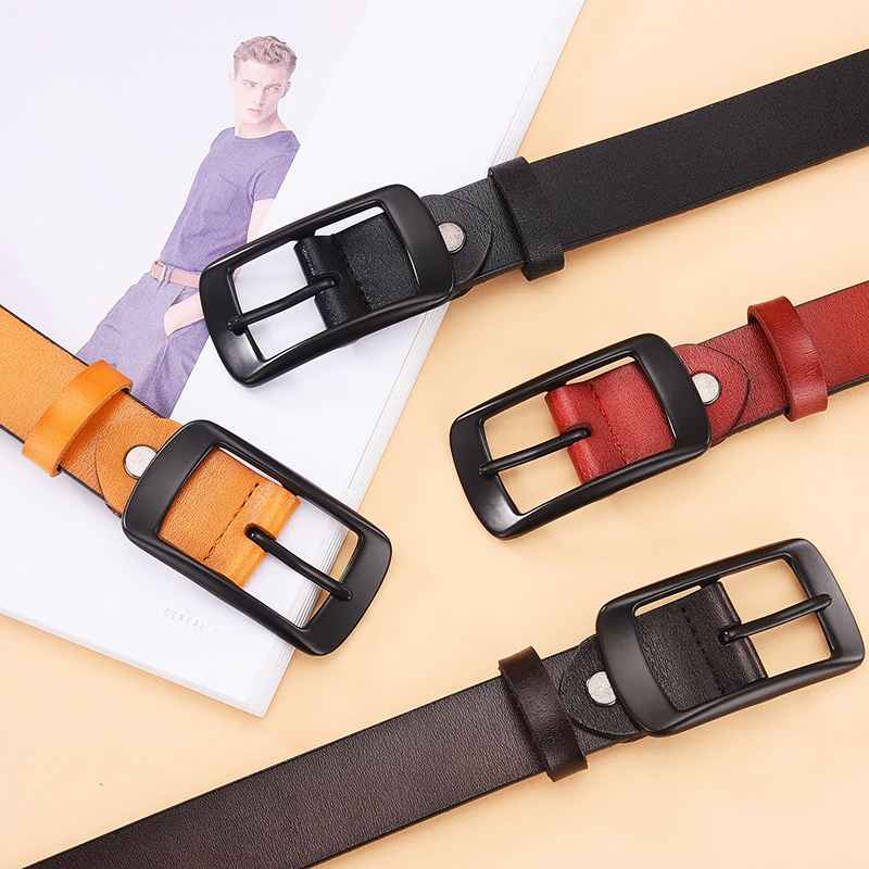 Dinisiton Female Belts For Women Genuine Leather Belt Fashion All-Match