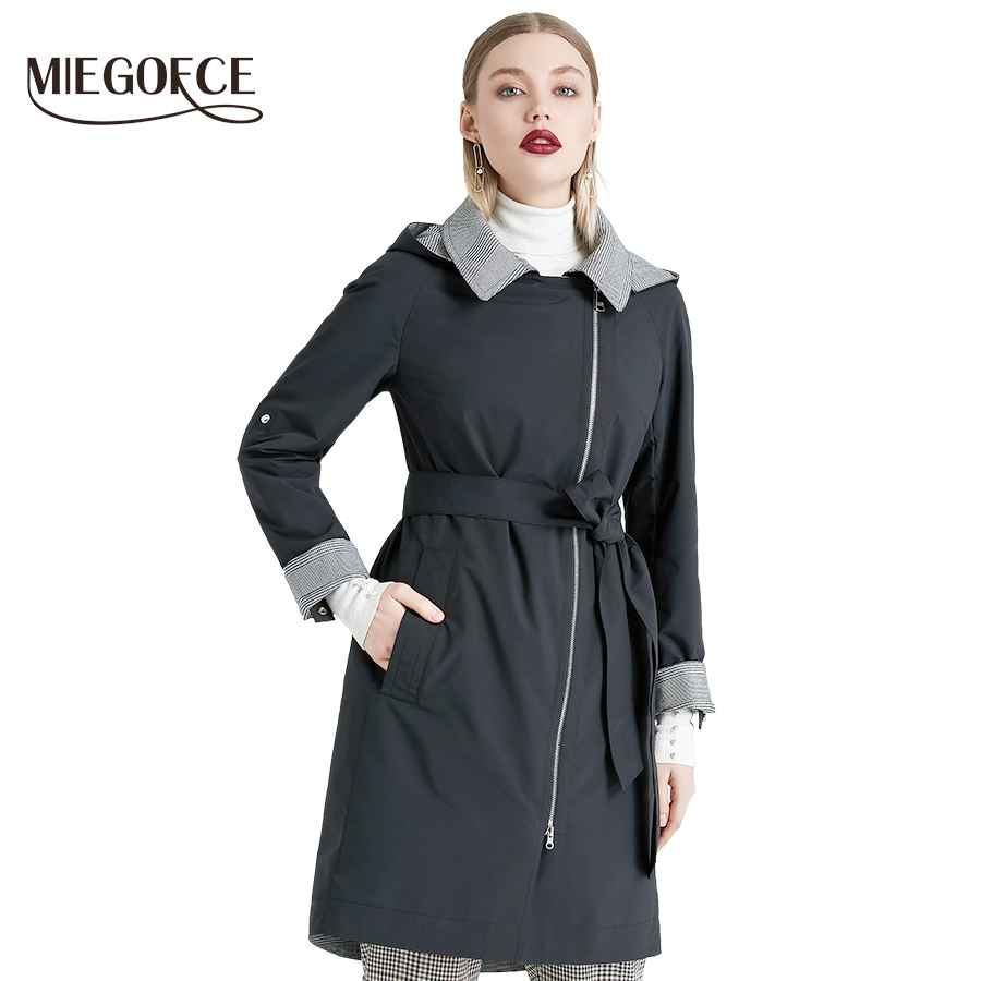 Miegofce 2019 New Product Trench Spring Autumn Female Windproof Warm