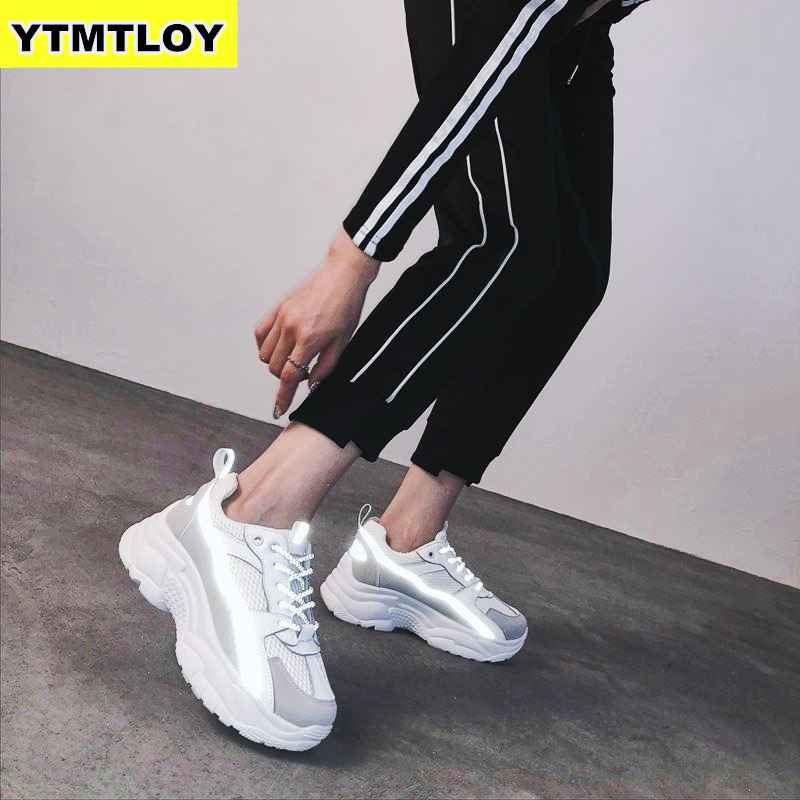 Women Sneakers 2019 Fashion Casual Shoes Woman Comfortable Breathable White