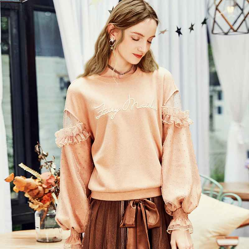 Artka 2019 Autumn New Female Sweatshirt O-Neck Pullover Casual Sweatshirts