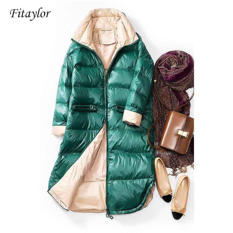 Coats fitaylor new winter ultra light white duck down jacket