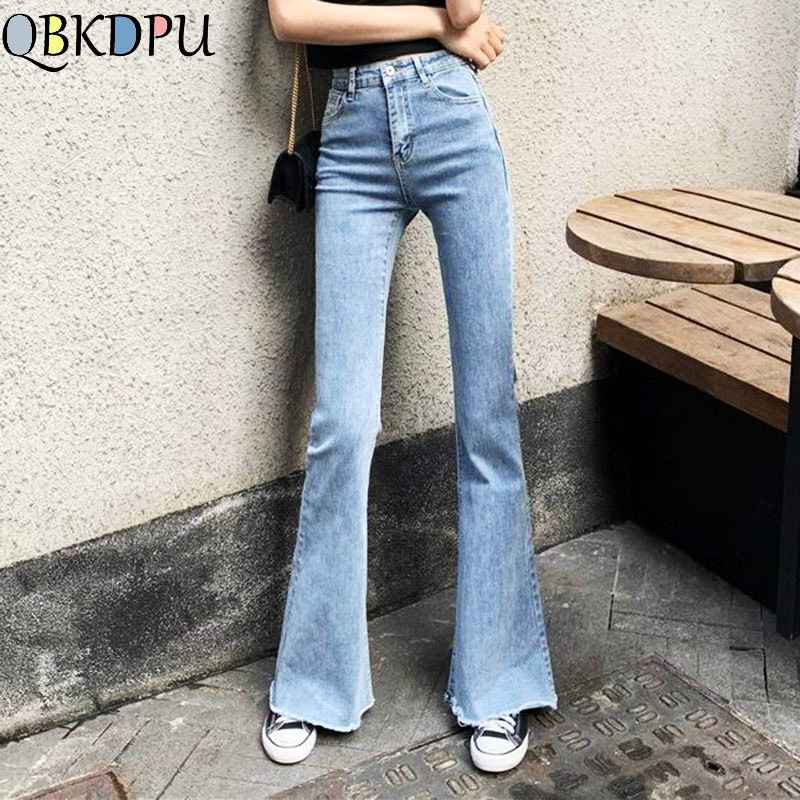 Jeans mom black high waist flare jeans boyfriend bell bottom