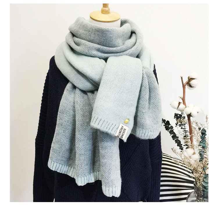 2019 New Lady Scarf Cute Winter Wool Knitted Scarf Warm