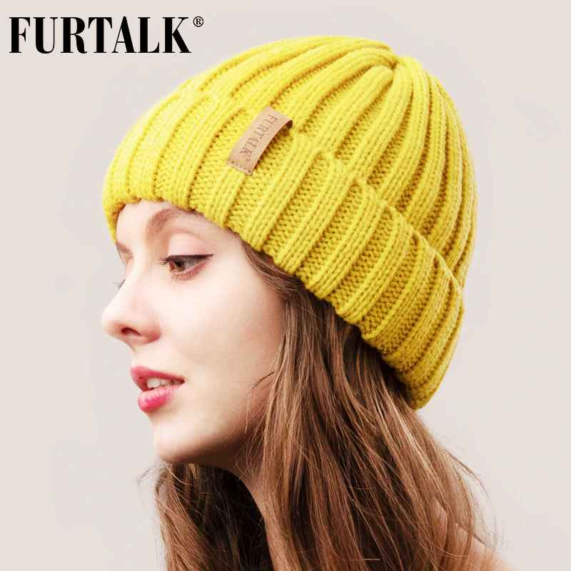 Furtalk Winter Hat For Women Beanie Hat With Fleece Lining