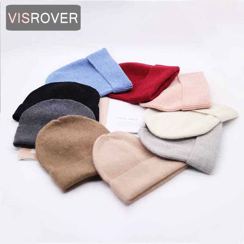 Visrover 9 Colorways New Autumn Winter Solid Color Real Cashmere