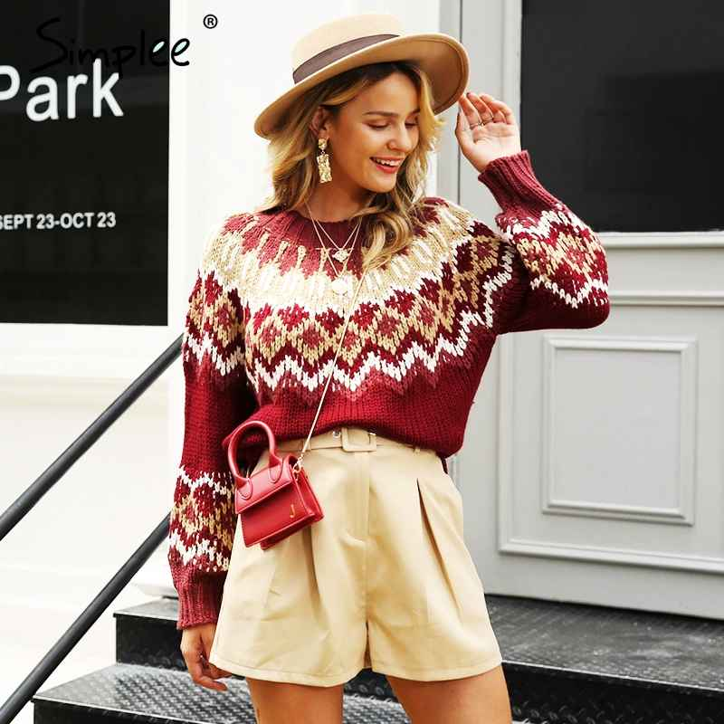 Tassel Vintage Women Pullover Christmas Sweater Oversize Long Sleeve Female