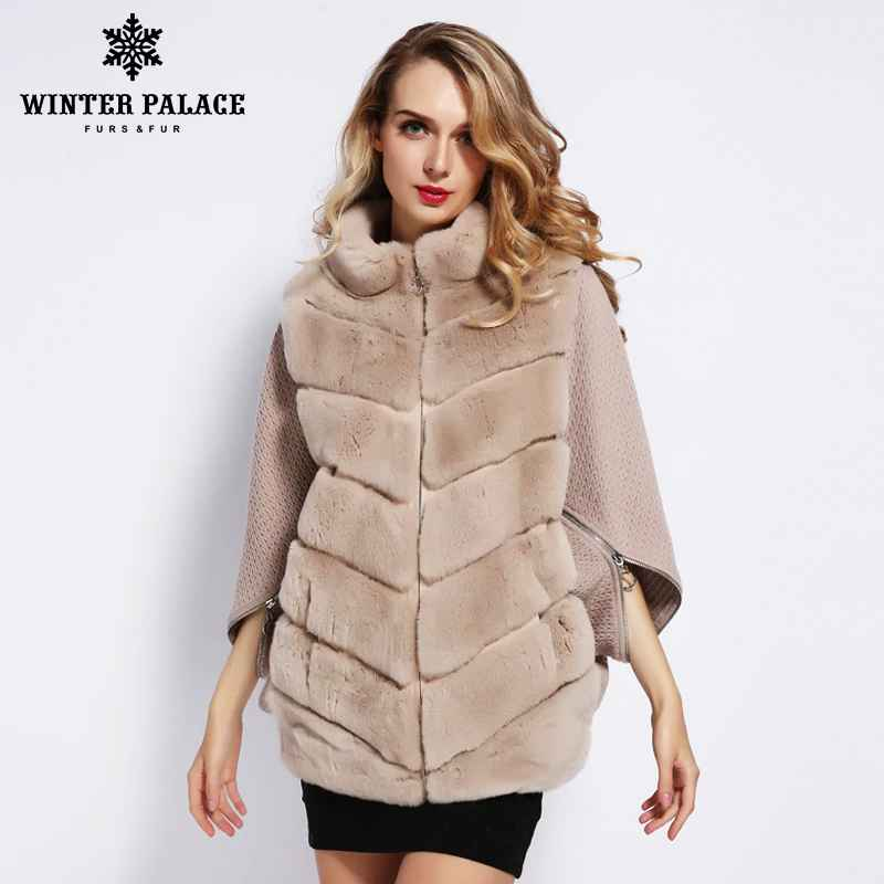 Coats winter palace 2019 womens winter rabbit fur coat bat