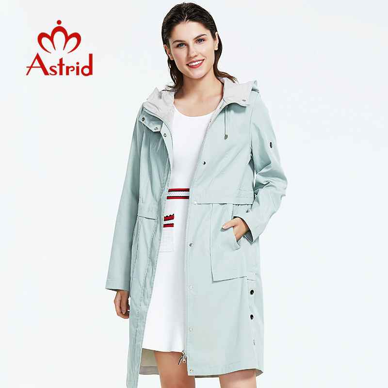 Astrid 2019 New Arrival Plus Size Mid-Length Style Trench Coat
