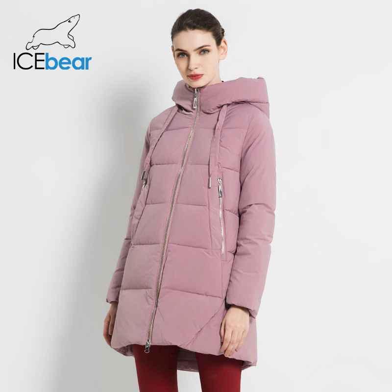 Icebear 2019 New Winter Women s Jacket High Quality Long Coat