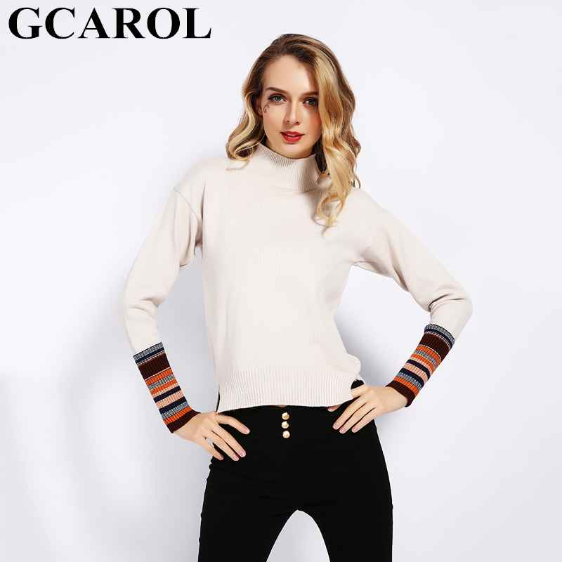 Sweaters gcarol new fall winter women stripes sleeve sweater stretch