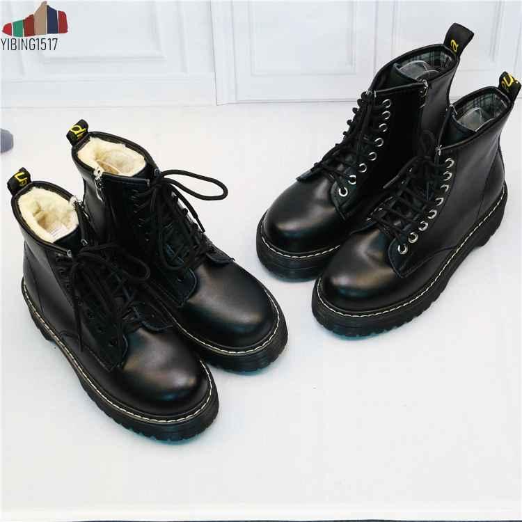 Nausk Women Flat Platform Ankle Boots Spring Boot Black Lace
