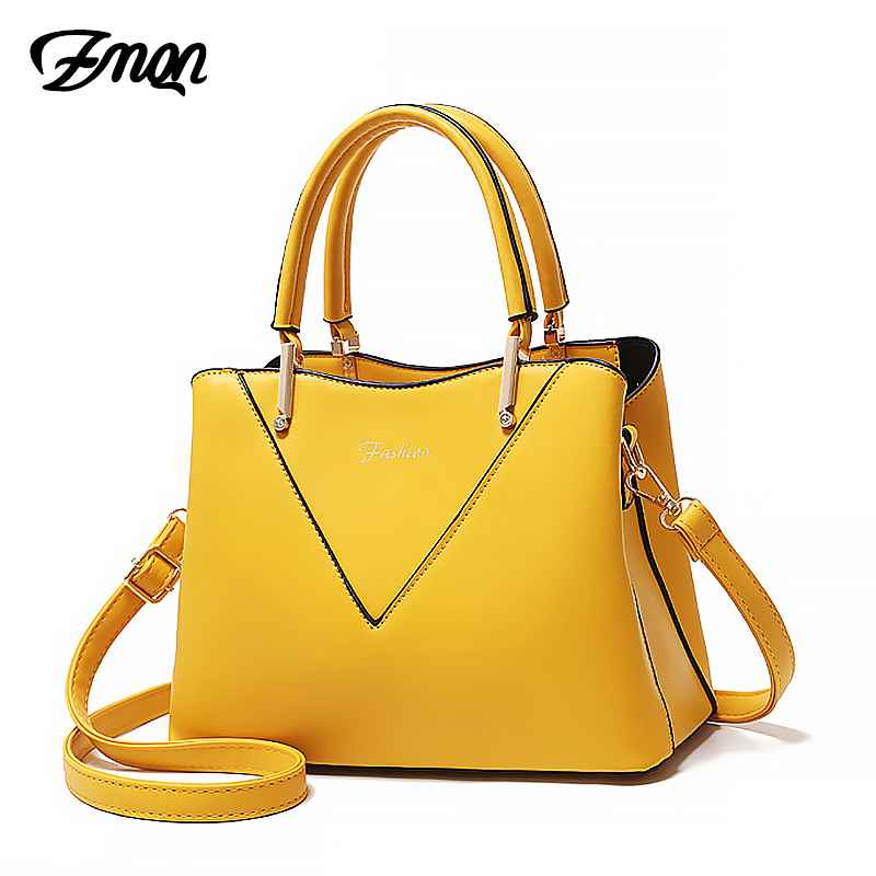 Yellow Crossbody Bag For Women Leather Luxury Handbags Women Bags