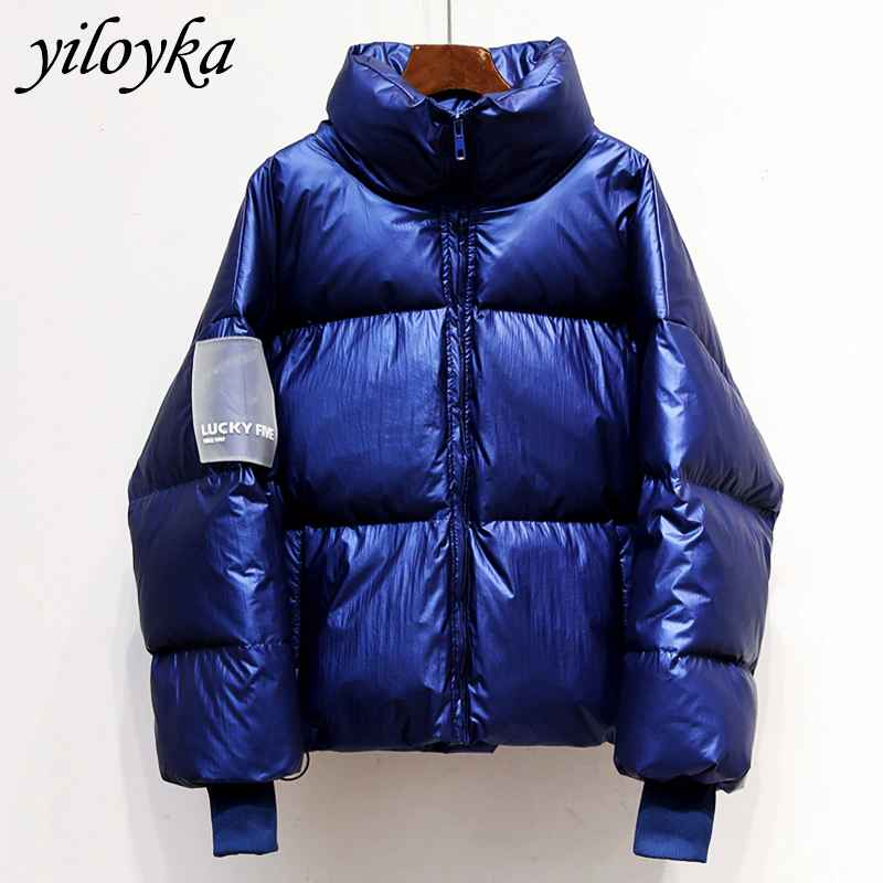 Coats new glossy waterproof female jacket parka 2019 winter jacket