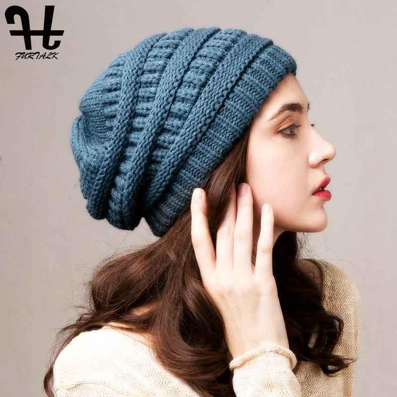 Furtalk Beanie Winter Hats For Women Knitted Slouchy Beanie Hat